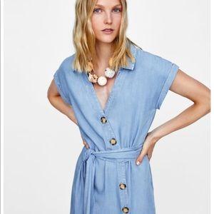 New with tags! Zara button shirt dress
